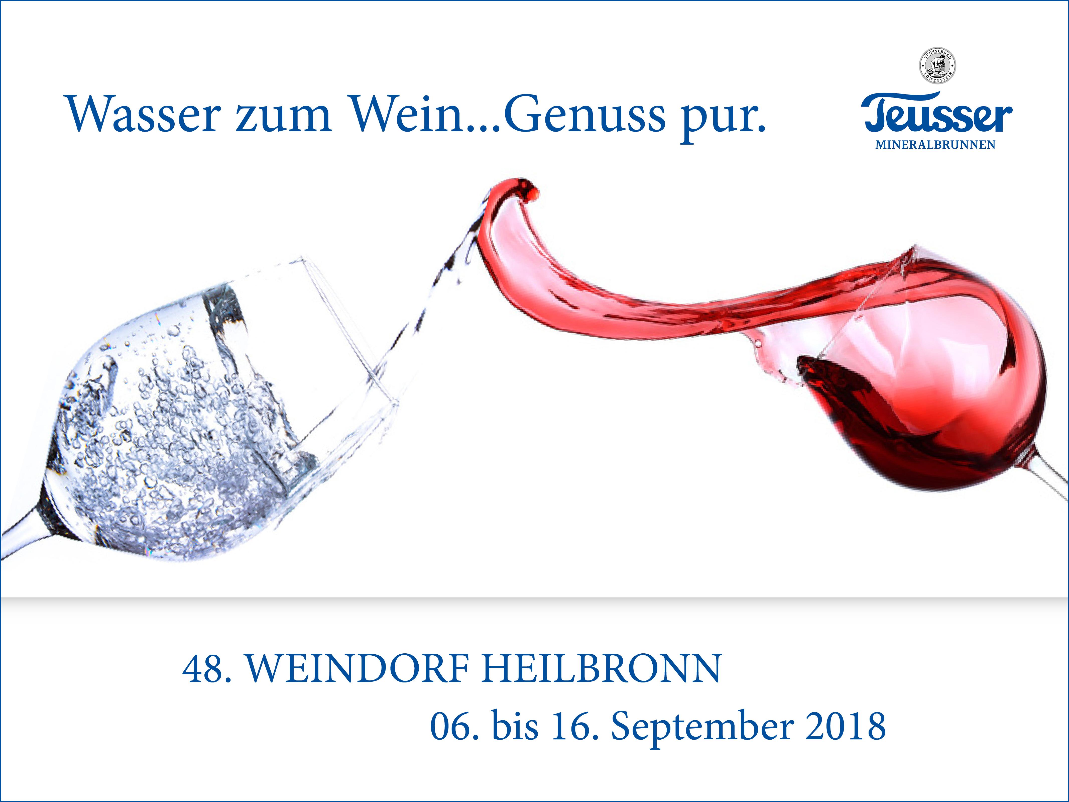 48. Heilbronner Weindorf – Wasser und Wein – purer Genuss