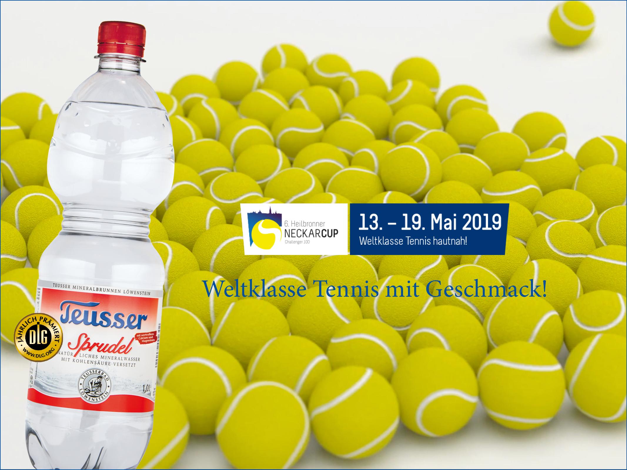 """""""TEUSSER und Heilbronner NECKARCUP – weltklasse Tennis mit Geschmack!"""