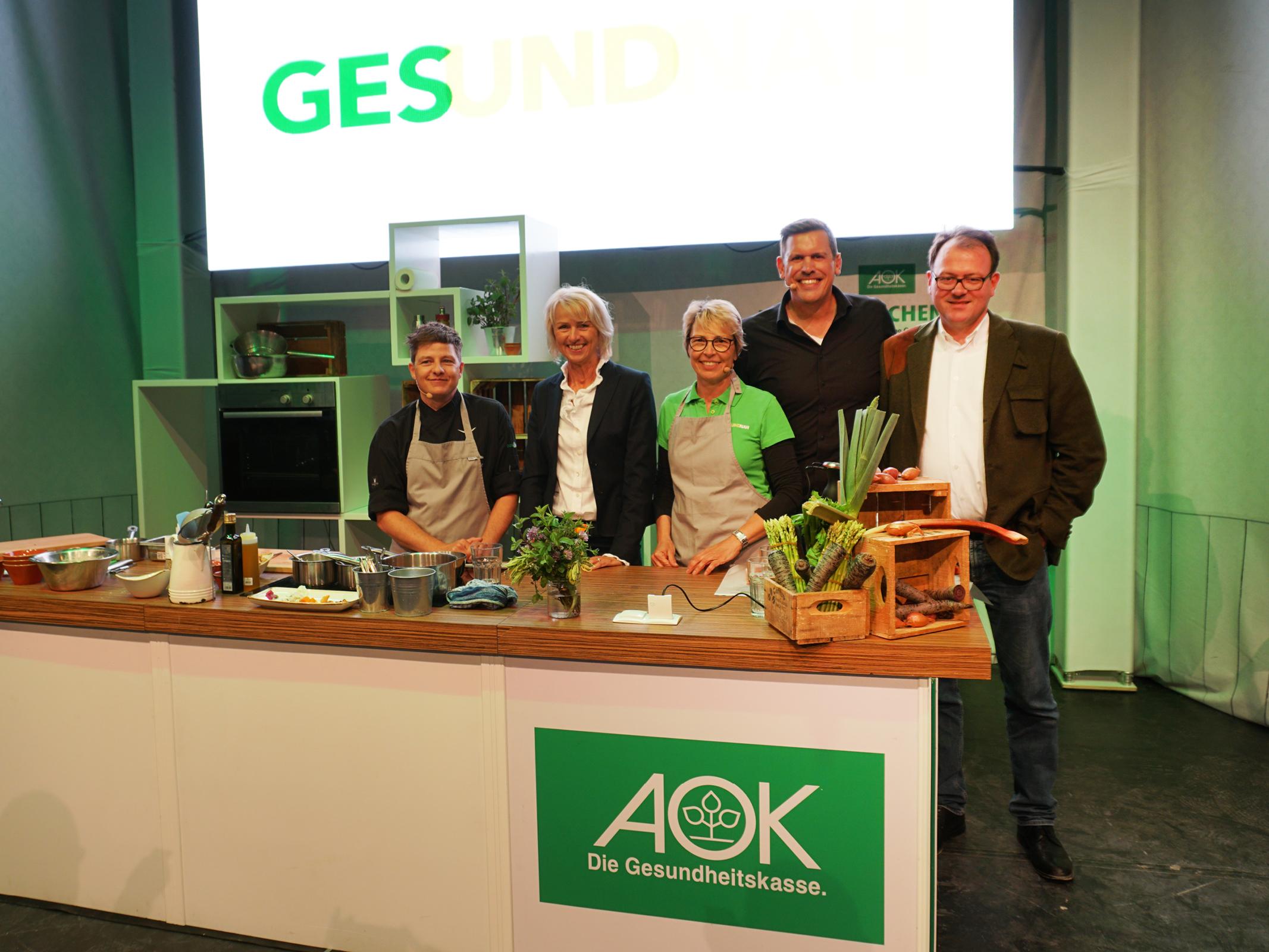 Ganz nah dran am Genuss – AOK Kochshow und Teusser Mineralbrunnen auf der BUGA Heilbronn