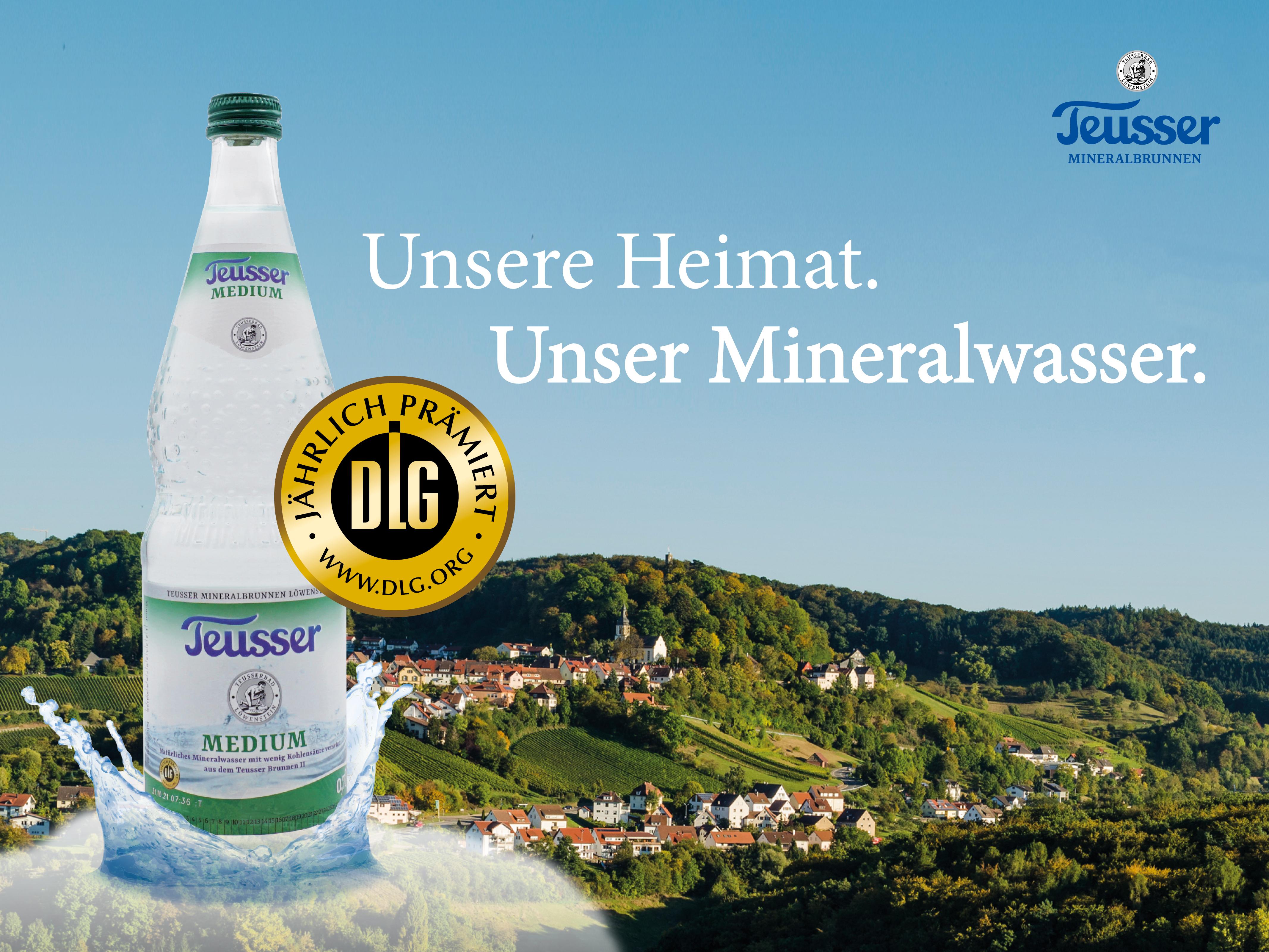 Prämierte Qualität! DLG-Goldmedaillen für Teusser Mineralbrunnen aus Löwenstein