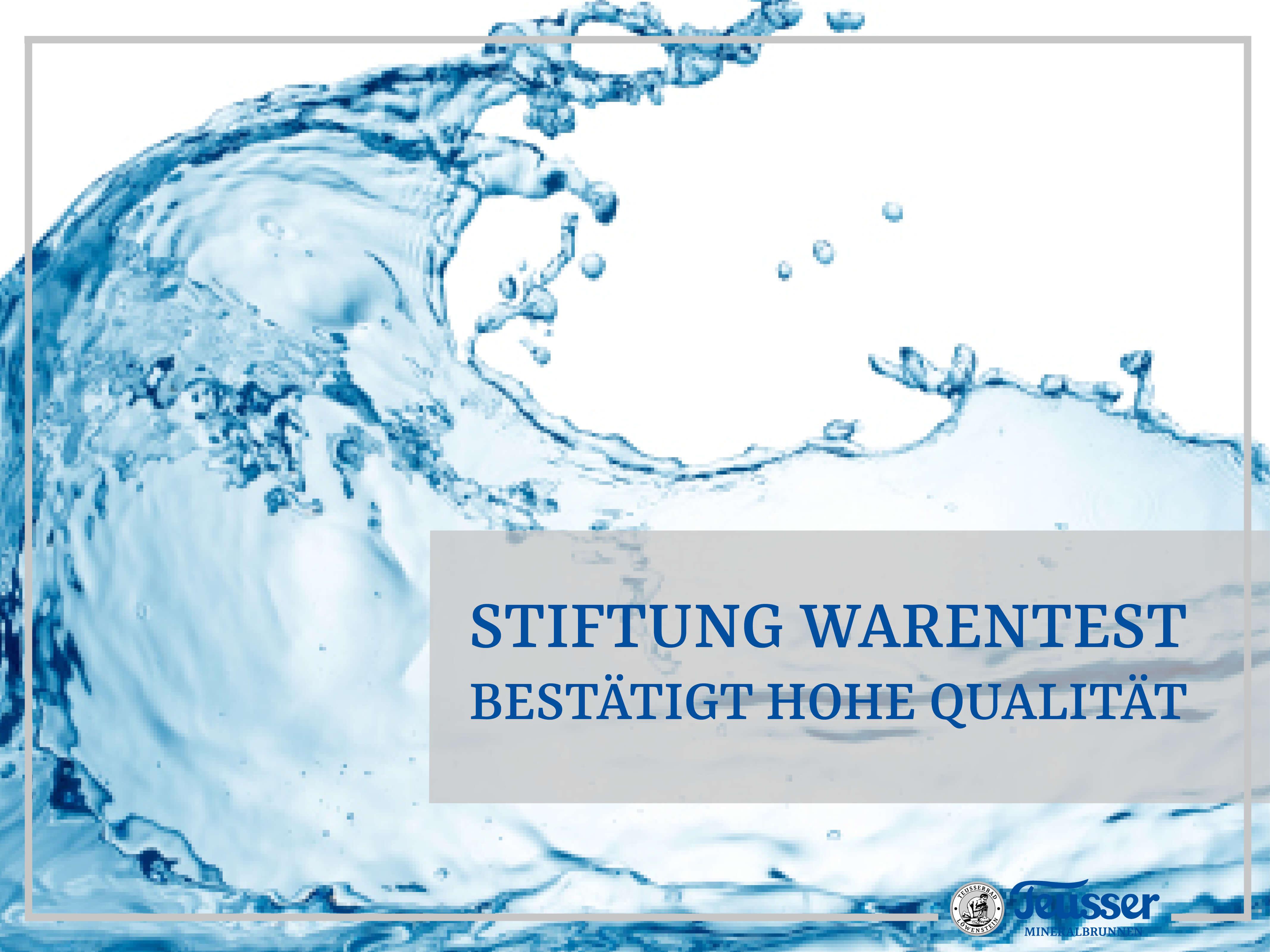 Stiftung Warentest bestätigt die hohe Qualität von Mineralwasser